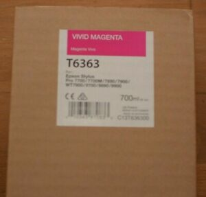 EPSON Stylus Pro T6363 Vivid Magenta Genuine Ink 700ml