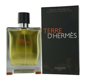 91f7438e0 Details about Terre D Hermes By Hermes Men 6.7 6.8 oz 200 ml  Pure Parfum   Spray Nib Sealed