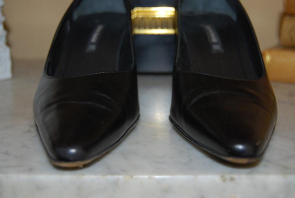 BRUNO MAGLI ITALY schwarz LEATHER LEATHER LEATHER CLASSIC damen HEEL PUMP schuhe Größe 8 1 2 AA 85b1e0