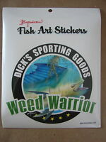 Dick's Sporting Goods Weed Warrior Decal Approx 5 X 5 1/2 Baroncelli Fish Art