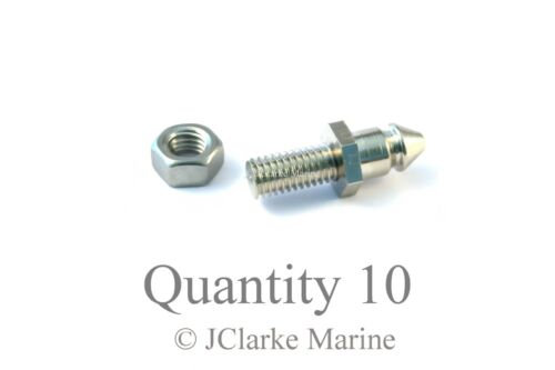 Lift the dot M5 x 10mm threaded stud base fastener boat cover canopy Genuine