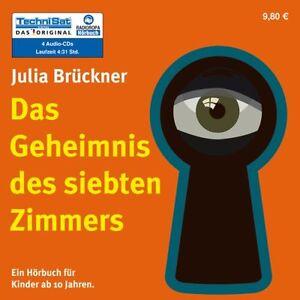 Julia-Brueckner-Das-Geheimnis-des-siebten-Zimmers-4-CDs-NEU-Kinder-Hoerbuch