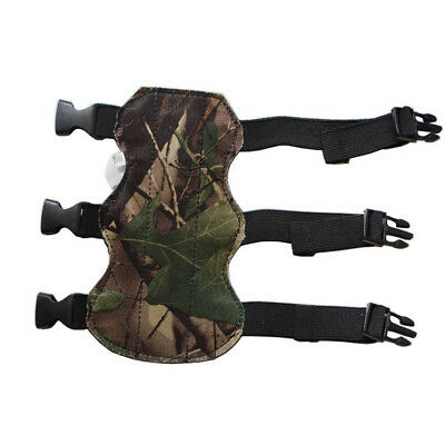 Cow Leather 3 Straps Archery Arrow Bow Arm Guard Protector Hunting Shooting Camo