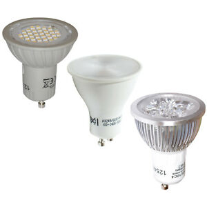 best service 766dc 907ca Details about 10 Energy Saving GU10 LED Spot Light Bulbs 3W or 4W Warm Cool  White Downlight