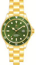 DIVER'S AUTOMATIC WATCH VERGOLDET30 BAR SOLID IN GREEN SERIES XXL SIZE 1 13/16in