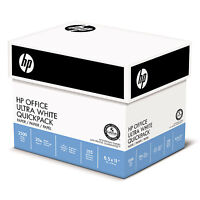 Hp Office Ultra-white Paper, 92 Bright, 20lb, 8-1/2 X 11, 500/ream, 5/carton on sale