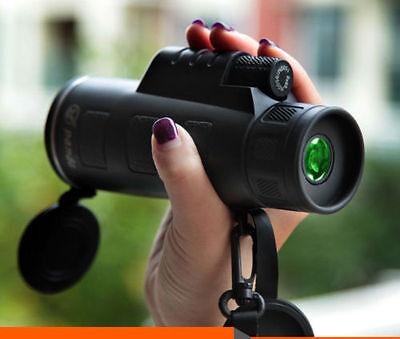 PANDA 40X60 Focus Zoom Outdoor Travel HD OPTICS BK4 Monocular Telescope Hot Pro