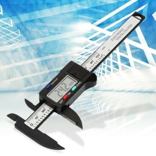 100mm 4/'/' LCD Digital Electronic Carbon Fiber Vernier Caliper Gauge Micrometer w