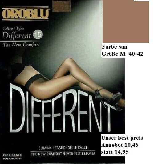 Oroblu Different 15 Strumpfhose, matte Optik, breiter Komfortbund, sun, M=40-42