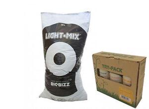 BioBizz-20L-Light-Mix-TryPack-Indoor-Light-Mix-Grow-Erde-Duenger-Set