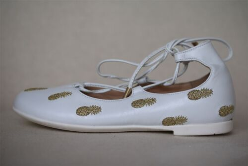 Aquazzura Girls Christy Pineapple Embroidered Shoes EU 27 uk 9 afficher le titre d'origine