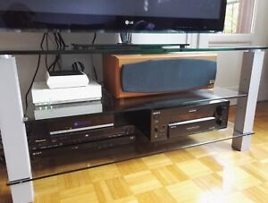 Meuble Tv Spectral 10110 Verre Et Pieds Alu Ebay