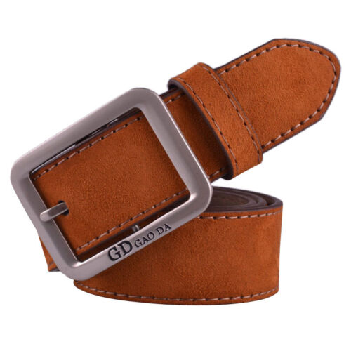Fashion Men Casual Leather Waistband Automatic Buckle Waist Strap Business Belts