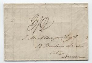 1838 New York to London transatlantic stampless [H.469]