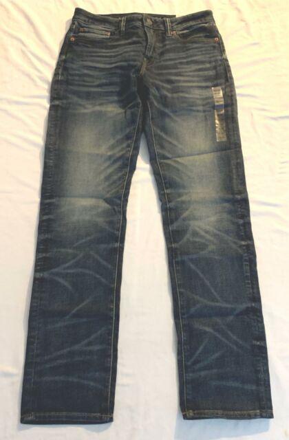 American Eagle Mens Ne(x)t Level Flex Straight Jean AM1 Dark Indigo Size 33x34
