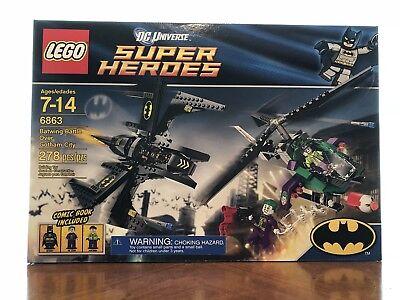 Lego 6863 Super Heroes Batwing Battle Over Gotham City Complete Set Minifigures