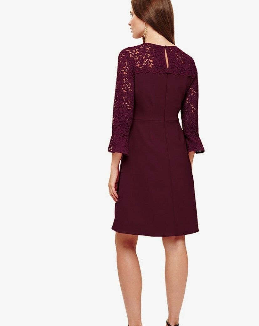 CL13PHASE EIGHT LADIES ESME DRESS IN OXBLOOD OXBLOOD OXBLOOD SIZE RRP 57cf06