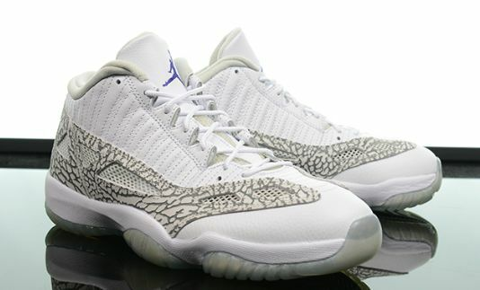Nike Air Jordan 11 XI Low Cobalt IE Retro GS blanc Cobalt Low Cement Gris 768873-102 7bebf2