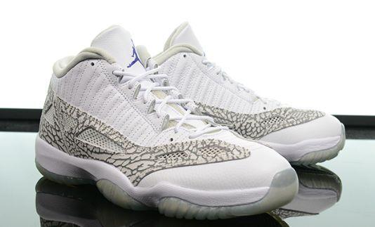 finest selection 3bae2 fe6a8 Flash Air Jordan 11 XI Ie Low White Cobalt Blue Grey 6y GS 768873-102
