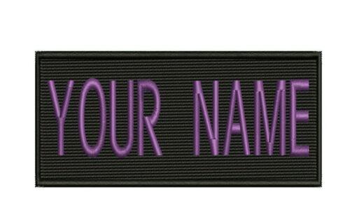 "IRON-ON Custom Embroidered Name Patch Name Tag,Name Badge Rectangular 1.5/""x3.5/"""