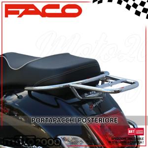 portapacchi posteriore cromato per Piaggio Vespa FACO