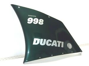 Ducati-94-04-748-916-996-998-LEFT-Mid-Fairing-Cowling-Green-Matrix-998