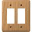 Light Oak 901RRL 1 Amerelle 2-Gang Solid Oak Rocker Decorator Wall Plate
