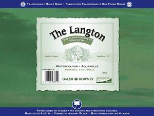 Daler-Rowney-Langton-blocco-per-acquerelli-25-4x17-8cm-63-5-kg-12-Fogli-NON