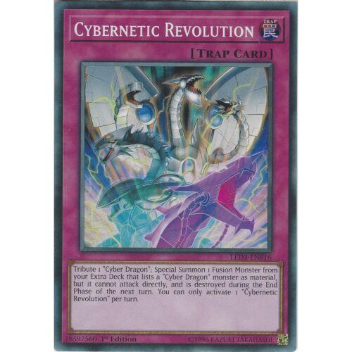 1st Edition Yu-Gi-Oh Cybernetic Revolution LED3-EN016 Super Rare Trap Card
