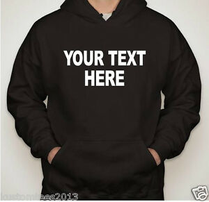 Personalized-Custom-Hoodie-Sweatshirt-New-Create-your-own-text-design-all-sizes