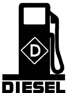 Diesel Fuel Pump Logo Vinyl Decal Sticker Fumes Truck