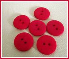 LOT 7 BOUTONS Rose Fushia 15 mm * 2 trous 1,5 cm button mercerie couture sewing