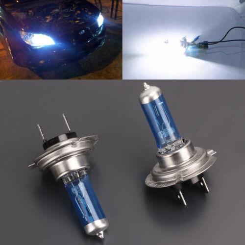 2x H7 12V 100W Car Halogen Headlight Fog Lamp Bulb 6000K White Super Bright