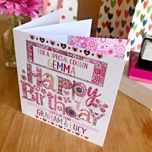 Special birthday cards personalised SISTER AUNTIE MUMMY FRIEND DAUGHTER NIECE