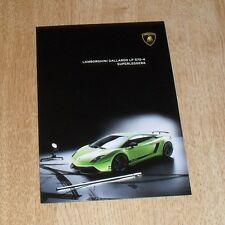 Lamborghini Gallardo LP560-4 Superleggera A5 Sized Brochure 2008