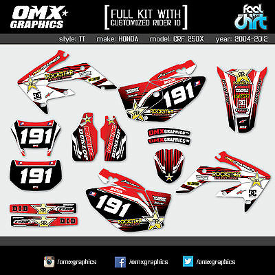 HONDA CRF 250 X decals stickers graphics kit 250X 2004-2012 TT