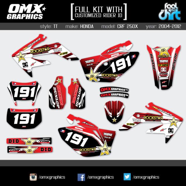 HONDA CRF 250 X decals stickers graphics kit 250X 2004-2012 TT