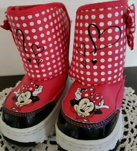 new design new products for best selection of 2019 Details about DISNEY Toddler Girls' Minnie Mouse Winter Boots ~ Red, White,  Black ~ Small 5-6