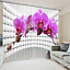 3D Phalaenopsis 35 Blockout Photo Curtain Printing Curtains Drapes Fabric Window