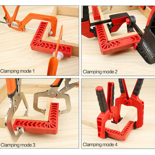 3-6/'/'Angle Clamps Corner Clamp Ruler Clamping Square Woodworking Fixer Hand Tool