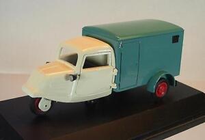 Schuco-1-43-ritmo-triciclo-recuadro-coche-beige-verde-en-laminas-box-2344