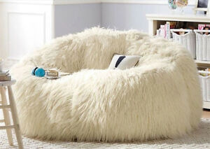 Image Is Loading Large Shaggy Faux Fur Beanbag Cover Plush Bean