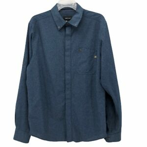 Marmot-Mens-Oxford-Shirt-Blue-Denim-Long-Sleeve-Button-Down-Collar-Pocket-M