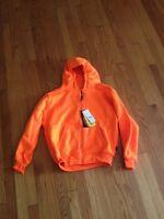 Kids Boys Girls Trail Crest Orange Fleece Hoodie Sweatshirt Jacket Size L