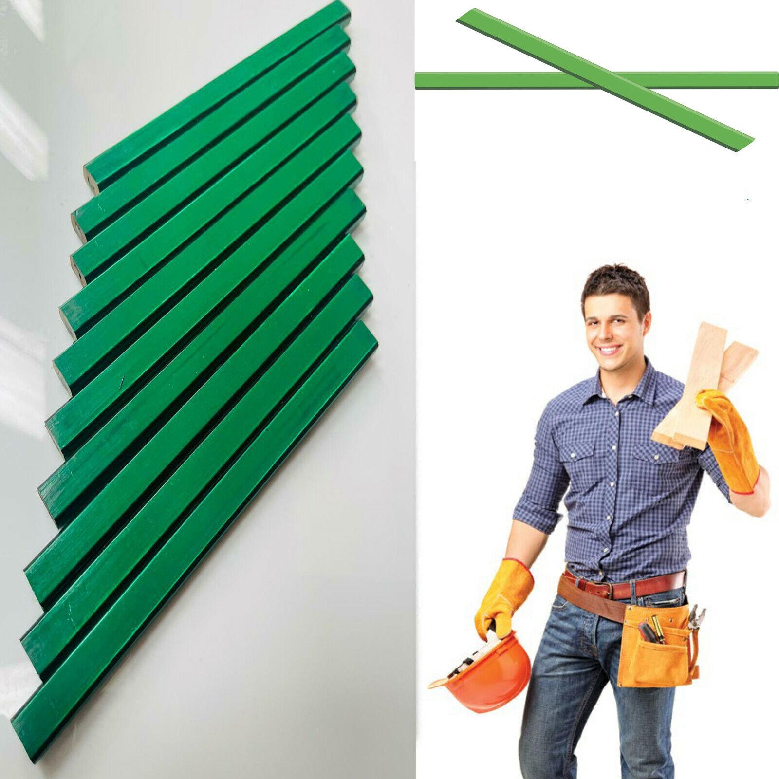 10X CARPENTERS PENCILS BLACKEDGE REXEL H HARD GREEN wood brick plaster