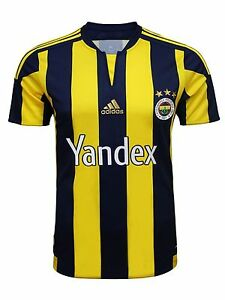Image is loading FENERBAHCE-JERSEY-2015-16-MATCH-FB-15-HOME-