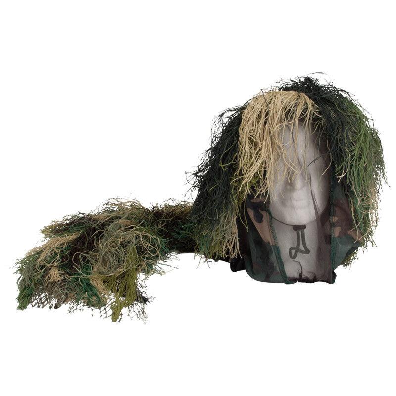 3-D Camouflage Bush Head Cover Netting Mesh Mask Hunting Shooting Woodland Camo