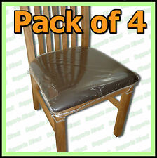 4x Clear Plastic Dining Chair Seat, How To Cover Dining Room Chairs With Plastic