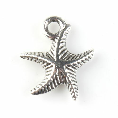 50x 143029 Wholesale New Charms Starfish Antique Silver Alloy Pendant Findings