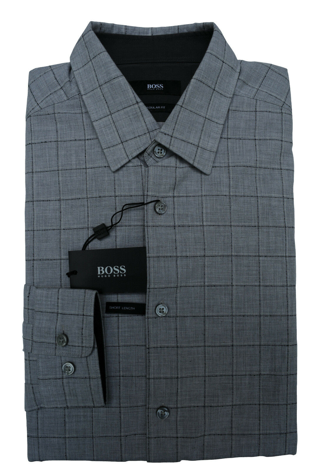 NEU gr. M HUGO BOSS HEMD JLANCE OPEN-GREY REGULAR FIT 50373206